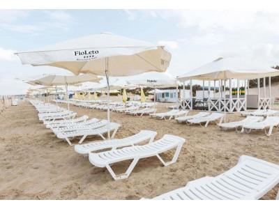 Пляж   Отель «ФиоЛето» Анапа, Пионерский проспект